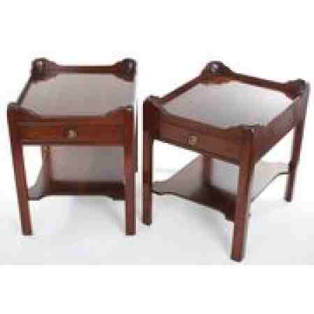Pair Of Georgian Style Mahogany Nightstands