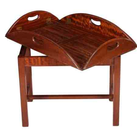 19th Century Mahogany Butlers Tray - on later stand.