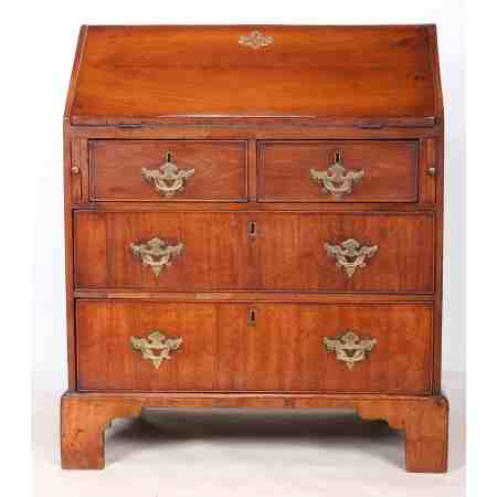 Small 18th Century Walnut Bureau