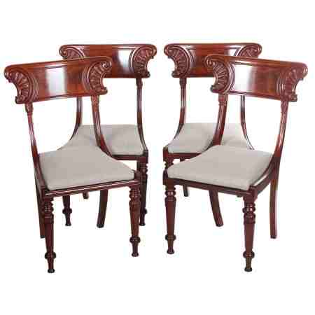 Set of 4 William IV Dining Chairs