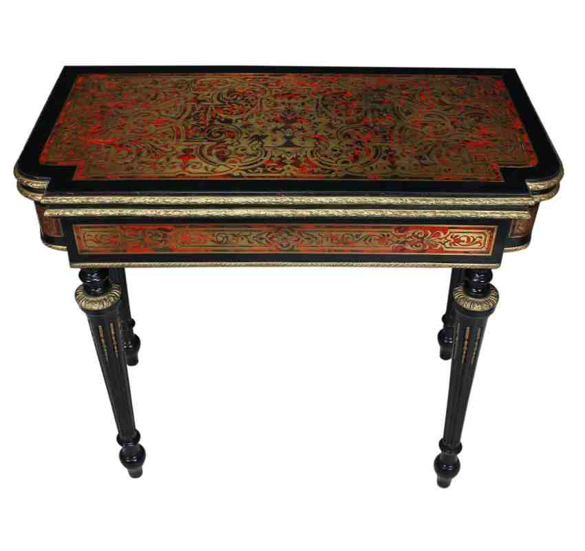 Boulle Brass Inlaid Card Table
