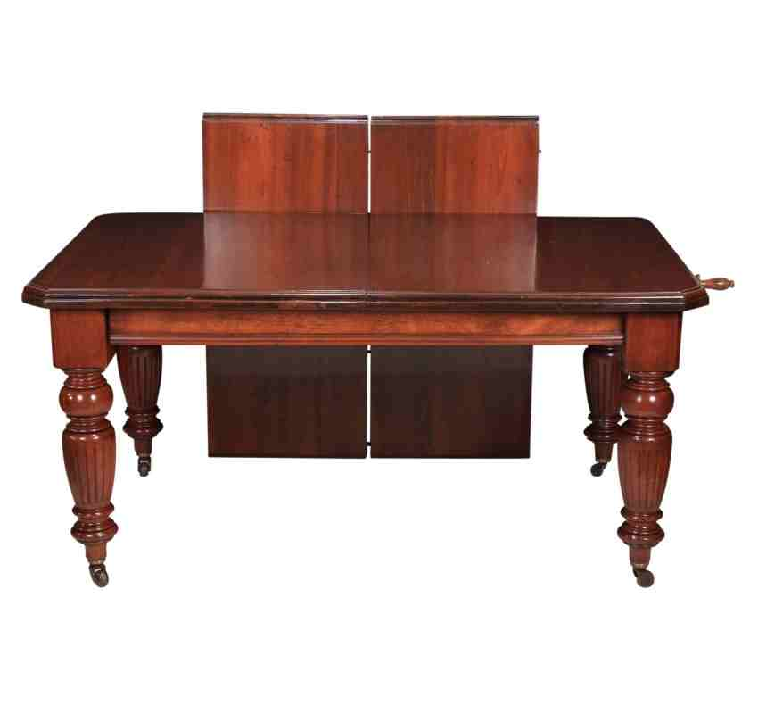 Late Victorian Slim Mahogany Extending Dining Table 8ft x 3ft2 : IMG8931 850x800 from www.ltantiques.co.uk size 850 x 800 jpeg 62kB