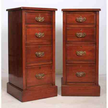 Pair of Walnut Bedside Chests