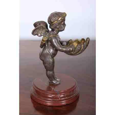 Bronze Salt Holder Cherub
