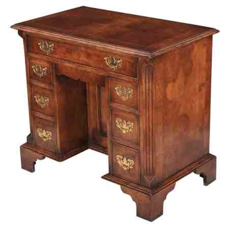 Queen Anne Style Walnut Desk