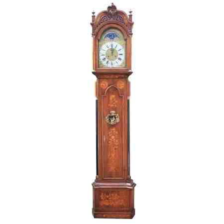 18th Century Dutch Marquetry Longcase Grandfather Clock