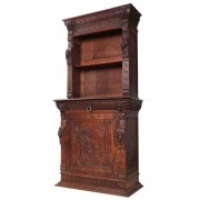 Carved Oak Library Bookcase