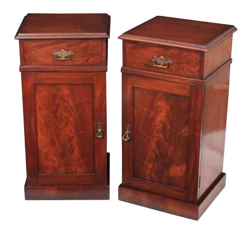 Mahogany Cabinets: Pair Of Mahogany Bedside Cabinets
