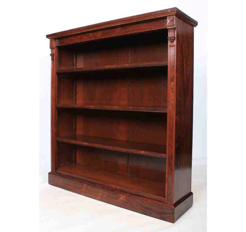 Rosewood Bookcase: Rosewood Open Library Bookcase