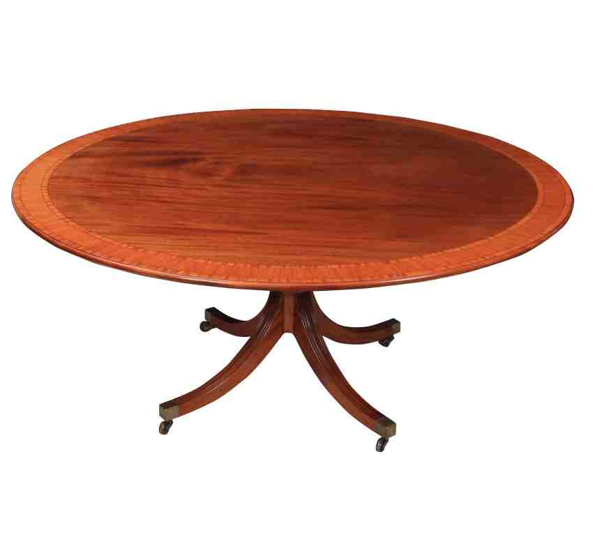 Large round 8 seater mahogany dining table by william tillman for Large round dining table