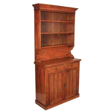 Large Mahogany Bookcase Dresser