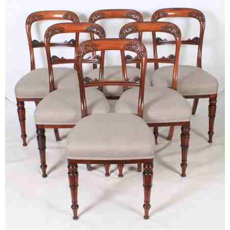 Set of 6 Stunning Rosewood Dining Chairs