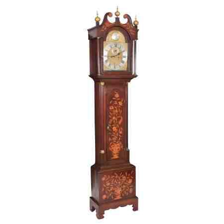 18th Century Dutch Marquetry Long Case Clock