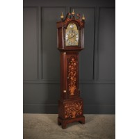 18th Century Dutch Marquetry Long Case Clock