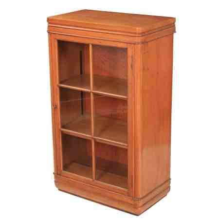 Small Art Deco Cabinet in Light Oak