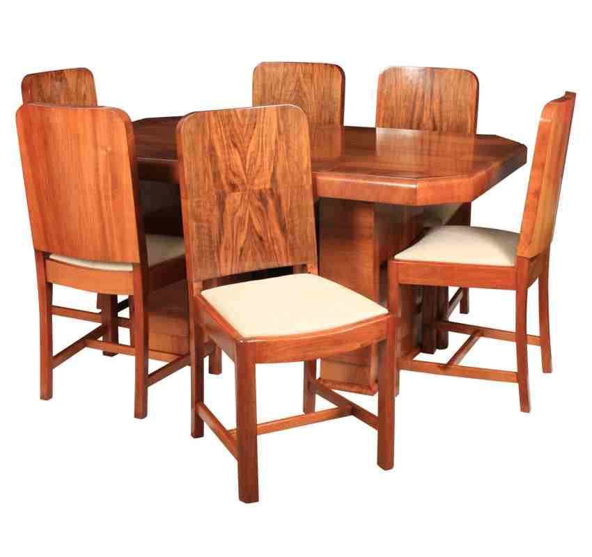 Art Deco Dining Table Ase Chairs