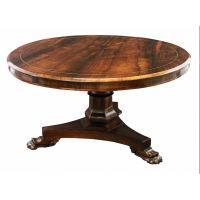 Large Regency Rosewood Centre Table