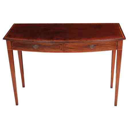 Mahogany Bow Front Side Table