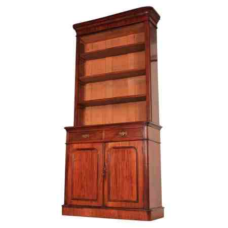 Tall Mahogany Open top Bookcase