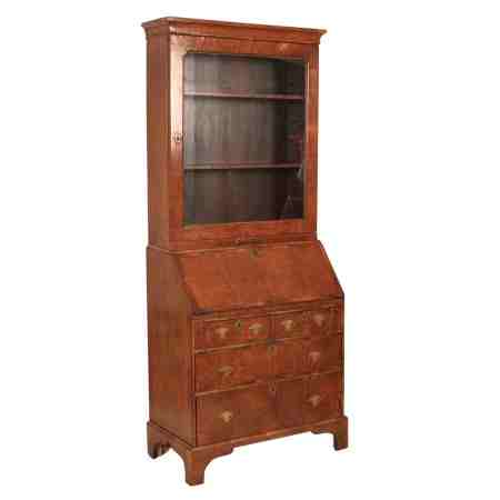 Walnut Bureau Bookcase
