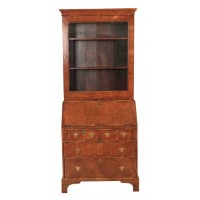 18th Century Walnut Bureau Bookcase