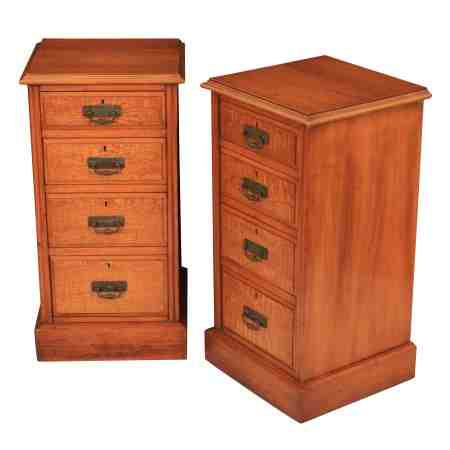 Pair of Hungarian Ash Bedside Chests