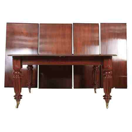 Large Extending Mahogany Dining Table