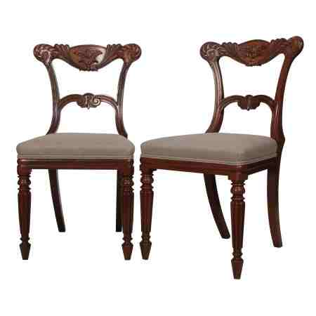 Pair of Rosewood Carved Chairs