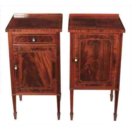 Pair of Inlaid Mahogany Bedsides By Maple & Co
