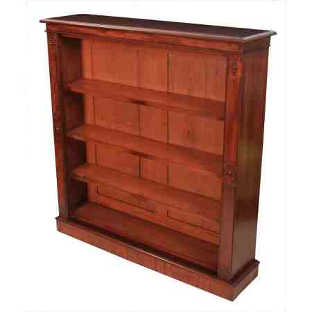 Mahogany Open Library Bookcase