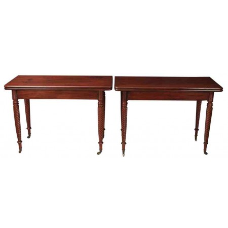 C.1800 Pair of Regency Mahogany Console Tables