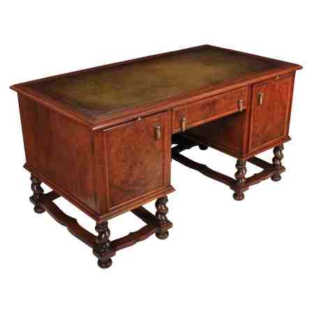 William & Mary Style Walnut Desk