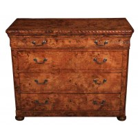 French Tigerwood Commode Chest of Drawers