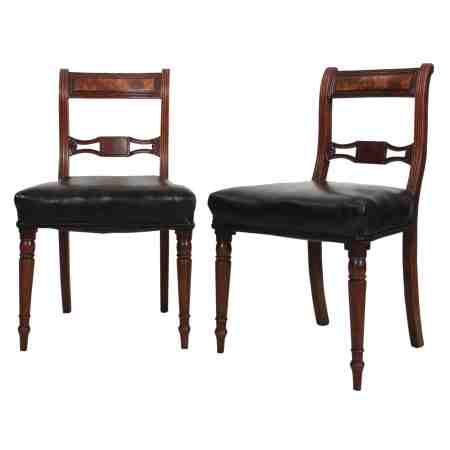 Set of Six Regency Mahogany Dining Chairs