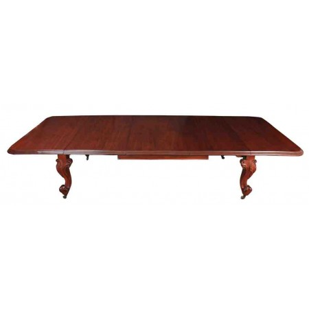 Victorian Mahogany Dining Table With 3 Leaves