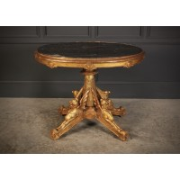 Decorative Italian Gilt and Marble Centre Hall Table