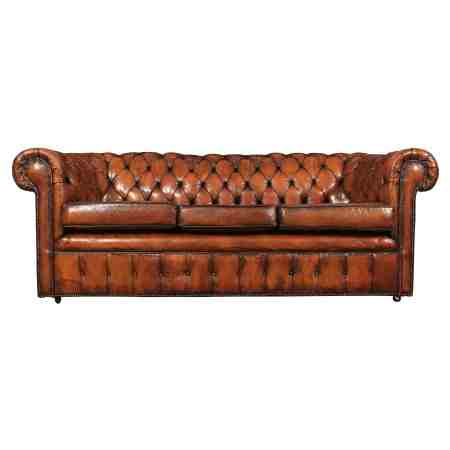 Stunning Hand Dyed Leather Chesterfield Sofa