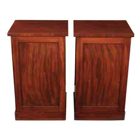Pair of Large Mahogany Bedside Cabinets