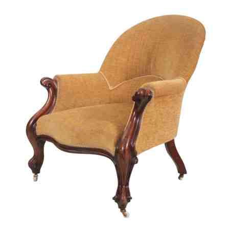 Victorian Mahogany Spoonback Armchair