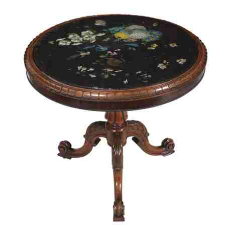Marble Topped Rosewood Occasional Table