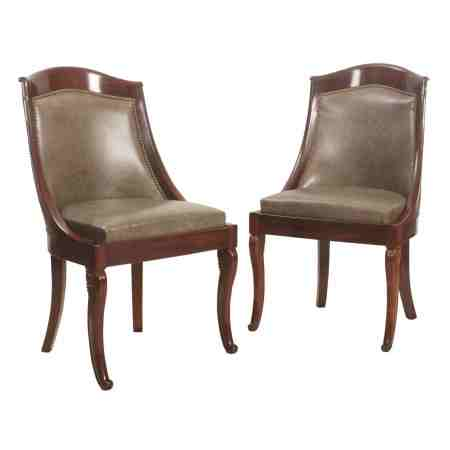 Pair of Biedemier Library Chairs