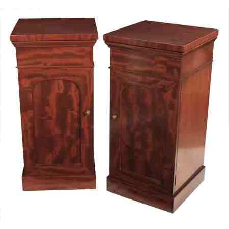 Pair of Victorian Mahogany Pedestal Cabinets