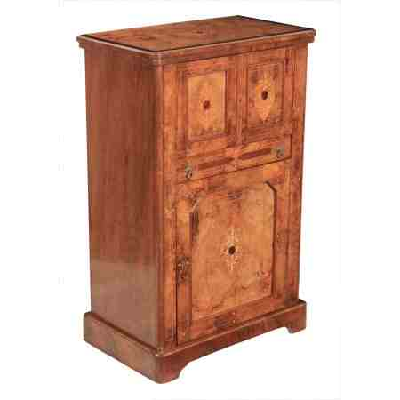 Marquetry Inlaid Victorian Cabinet