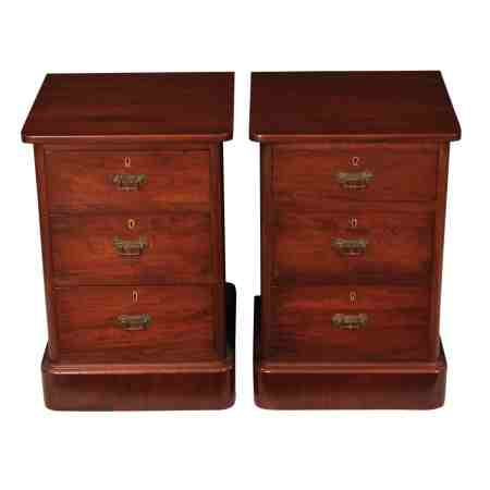 Pair of Victorian Bedside Chests