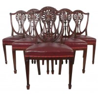 Set of 6 Mahogany Hepplewhite Dining Chairs
