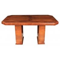 Vintage Art Deco Walnut Dining Table