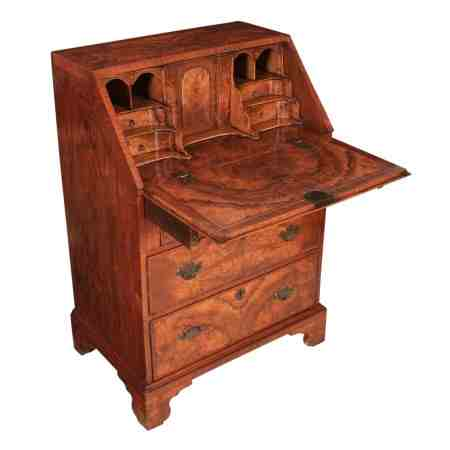 Small 18th Century Figured Walnut Bureau Desk
