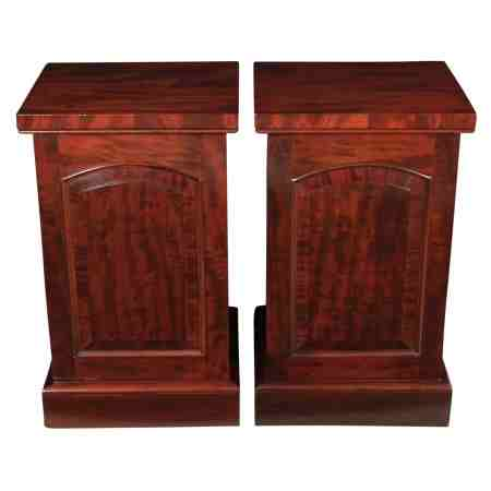 Pair of Mahogany Pedestal Bedside Cabinets