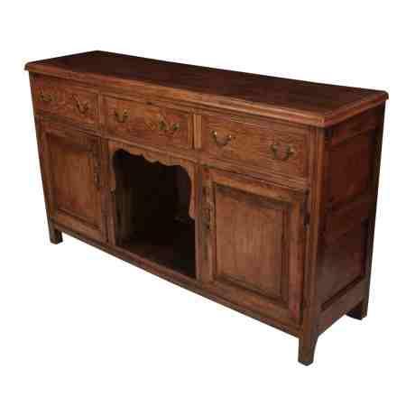 Early 18th Century Solid Oak Dresser Base