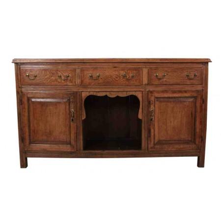 Early 18th Century Solid Oak Sideboard